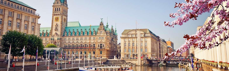 Hamburg mit Blumen